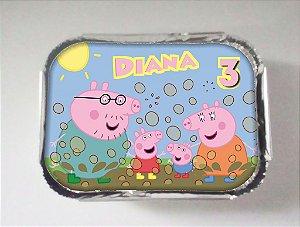 Arte para marmitinha personalizada Peppa Pig