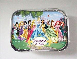 Arte para marmitinha personalizada Princesas Disney