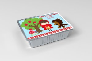 Marmitinha  personalizada Chapeuzinho Vermelho menina