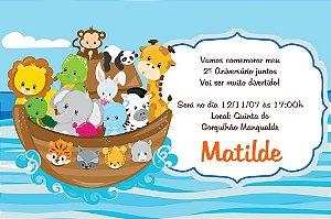 Convite digital personalizado Arca de Noé 010