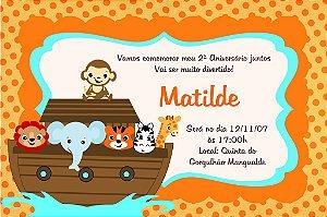 Convite digital personalizado Arca de Noé 011