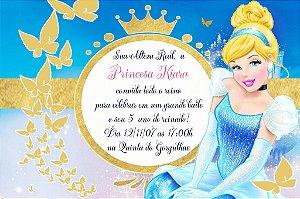 Convite digital personalizado Cinderela 013