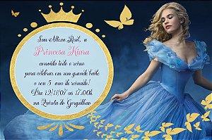 Convite digital personalizado Cinderela 014