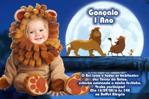 Convite digital personalizado Rei Leão 010