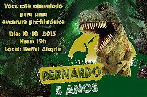 Convite digital personalizado Dinossauros 012