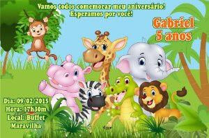 Convite digital personalizado Floresta 015