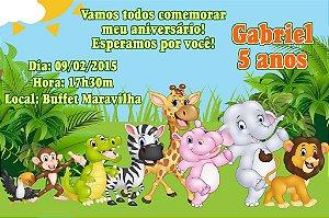 Convite digital personalizado Floresta 019