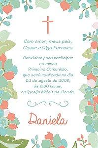 Convite digital personalizado Comunhão 049