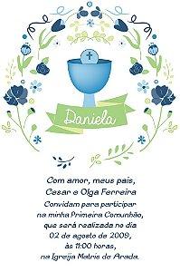 Convite digital personalizado Comunhão 050
