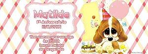 Convite personalizado para evento no facebook 1º Aniversário menina
