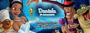 Convite personalizado para evento no facebook A Princesa e o Sapo