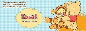 Convite personalizado para evento no facebook Baby Pooh