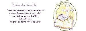 Convite personalizado para evento no facebook Batizado