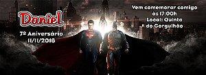 Convite personalizado para evento no facebook Batman Vs Superman