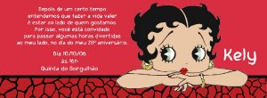 Convite personalizado para evento no facebook Betty Boop