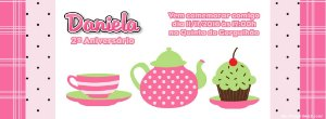 Convite personalizado para evento no facebook Chá entre Amigas