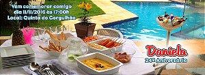 Convite personalizado para evento no facebook Churrasco e Piscina