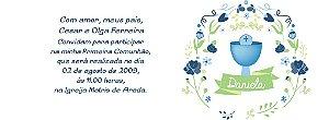 Convite personalizado para evento no facebook Comunhão