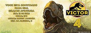 Convite personalizado para evento no facebook Dinossauro