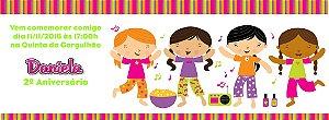 Convite personalizado para evento no facebook Festa do Pijama