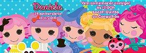Convite personalizado para evento no facebook Lalaloopsy