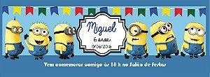 Convite personalizado para evento no facebook Minions