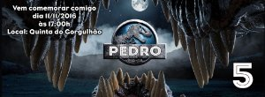 Convite personalizado para evento no facebook Mundo Jurássico