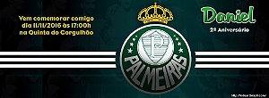 Convite personalizado para evento no facebook Palmeiras