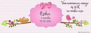 Convite personalizado para evento no facebook Passarinhos