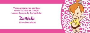 Convite personalizado para evento no facebook Pedrita