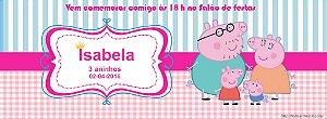 Convite personalizado para evento no facebook Peppa Pig