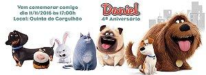 Convite personalizado para evento no facebook Pets - A Vida Secreta dos Bichos