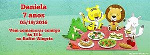Convite personalizado para evento no facebook Picnic