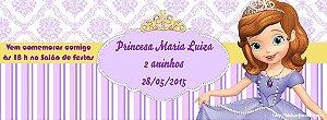 Convite personalizado para evento no facebook Princesa Sofia