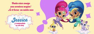 Convite personalizado para evento no facebook Shimmer e Shine