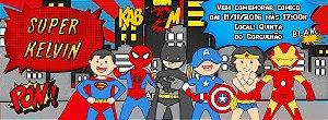 Convite personalizado para evento no facebook Super Herois