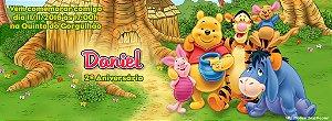 Convite personalizado para evento no facebook Ursinho Pooh