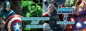 Convite personalizado para evento no facebook Vingadores