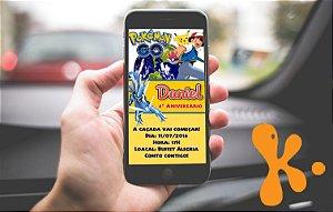 Convite personalizado para Whatsapp Pokémon GO