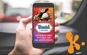 Convite personalizado para Whatsapp Kung Fu Panda