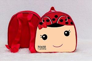 Arte para mochila personalizada Joaninha