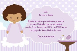 Convite digital personalizado Batizado 032