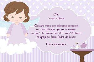 Convite digital personalizado Batizado 033