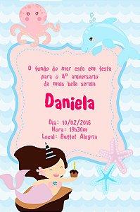 Convite digital personalizado Sereia 012