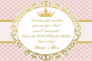 Convite digital personalizado Princesa 012