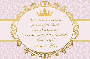 Convite digital personalizado Princesa 013