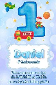 Convite digital personalizado 1º Aniversário 126