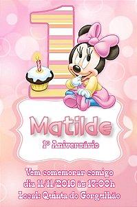 Convite digital personalizado 1º Aniversário 130