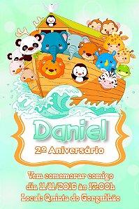 Convite digital personalizado Arca de Noé 015