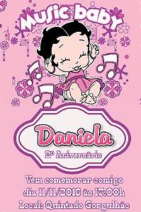 Convite digital personalizado Betty Boop Baby 001